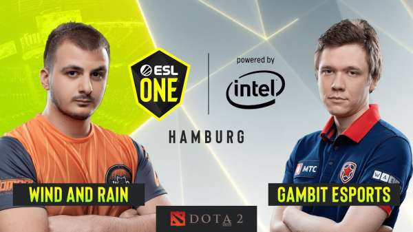 Gambit и Wind and Rain сыграли вничью на ESL One Hamburg
