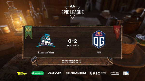 OG обыграла Live to Win в стадии Play-In на Epic League