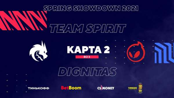 Team Spirit обыграла Dignitas на BLAST Premier Spring Showdown